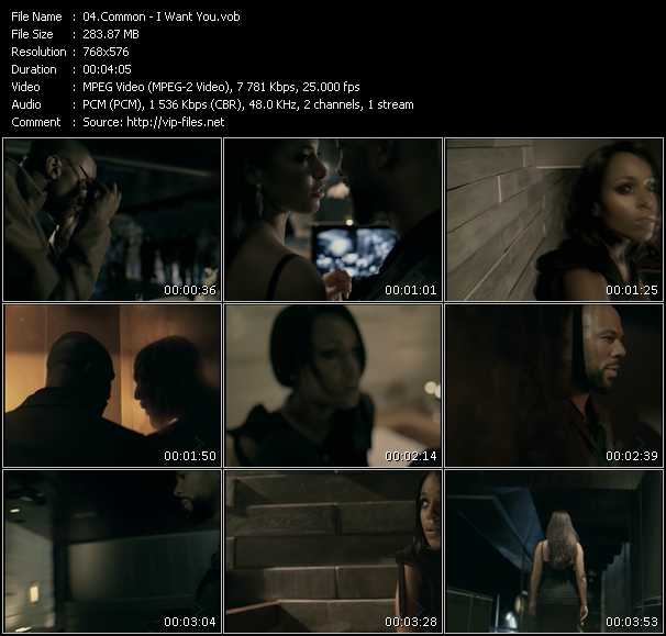 Screenshot of Music Video Common - I Want You