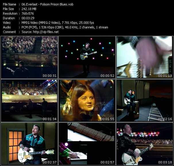 Screenshot of Music Video Everlast - Folsom Prison Blues