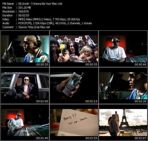 Screenshot of Music Video Ironik - I Wanna Be Your Man