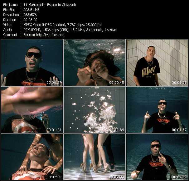 Screenshot of Music Video Marracash - Estate In Citta