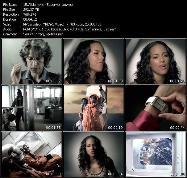 Alicia Keys video vob