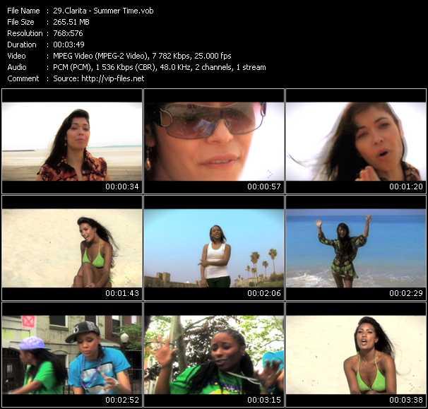 Screenshot of Music Video Clarita - Summer Time