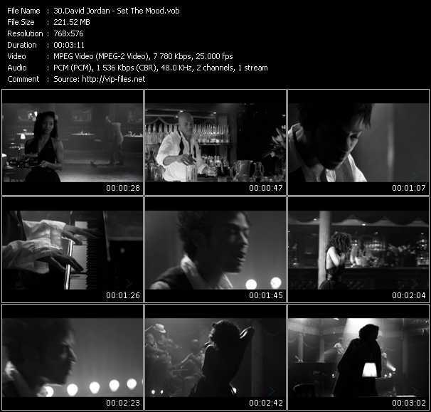 Screenshot of Music Video David Jordan - Set The Mood