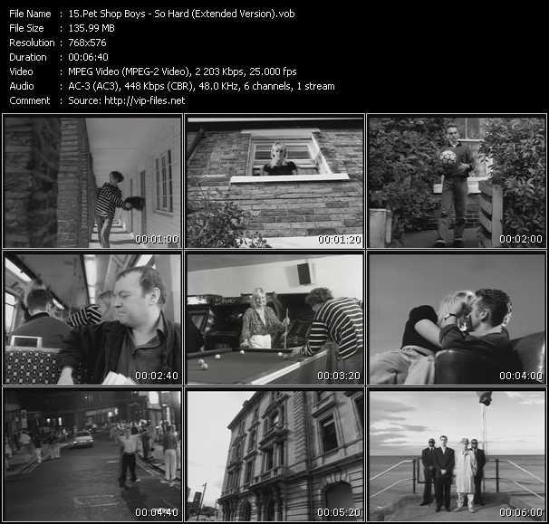 Screenshot of Music Video Pet Shop Boys - So Hard (Extended Version)