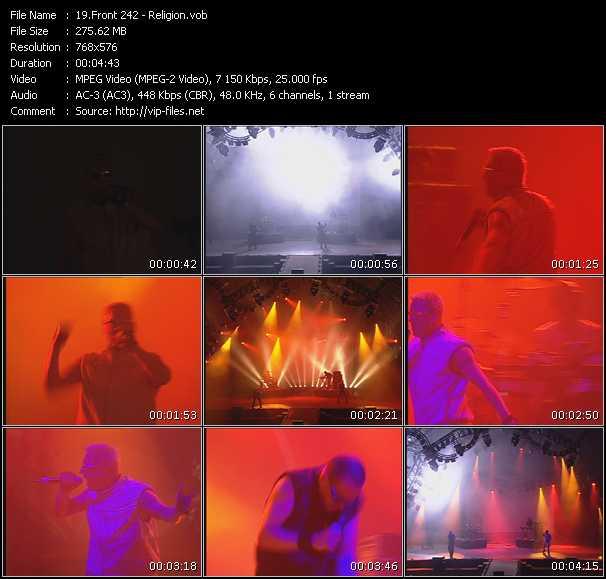 Front 242 video vob