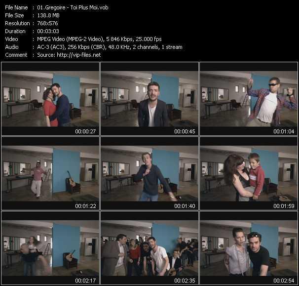 Screenshot of Music Video Gregoire - Toi Plus Moi