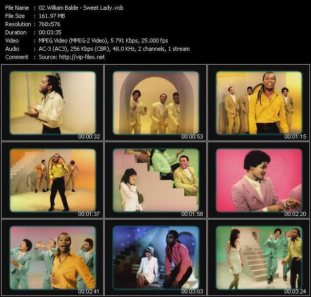 Screenshot of Music Video William Balde - Sweet Lady