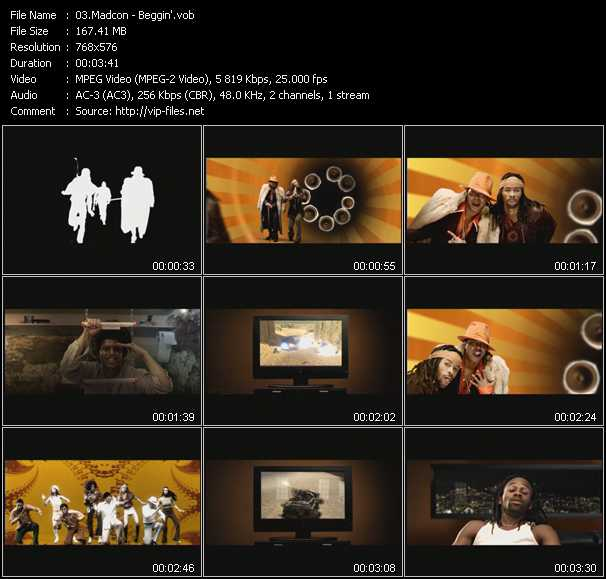 Screenshot of Music Video Madcon - Beggin'