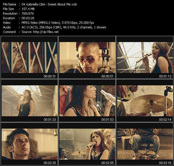 Screenshot of Music Video Gabriella Cilmi - Sweet About Me