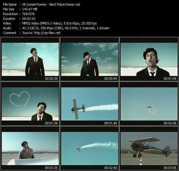 Screenshot of Music Video Daniel Powter - Next Plane Home