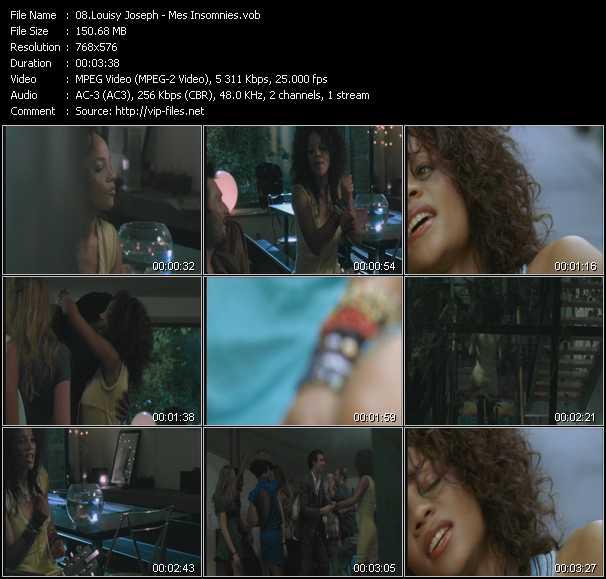 Screenshot of Music Video Louisy Joseph - Mes Insomnies