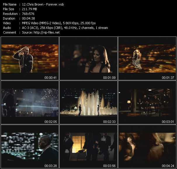 Screenshot of Music Video Chris Brown - Forever