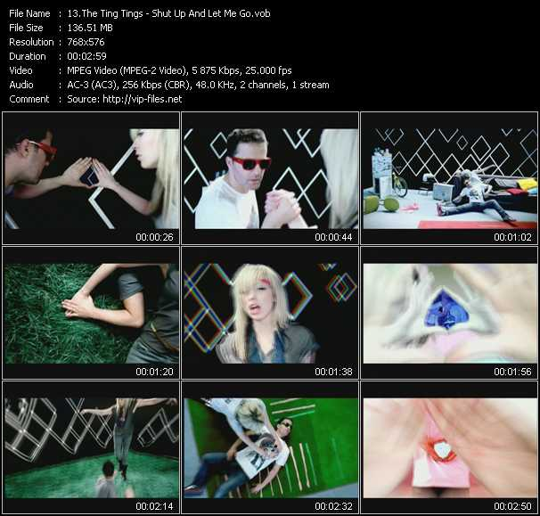 Screenshot of Music Video Ting Tings - Shut Up And Let Me Go