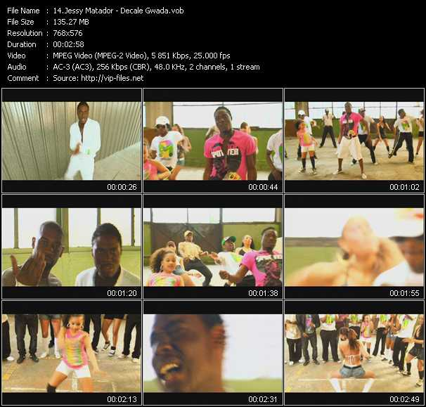 Screenshot of Music Video Jessy Matador - Decale Gwada