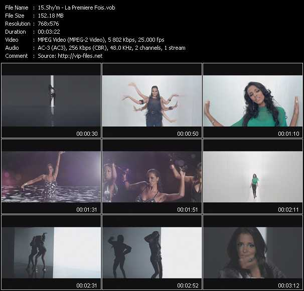 Screenshot of Music Video Shy'm - La Premiere Fois