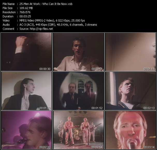 Download Men At Work Who Can It Be Now 45