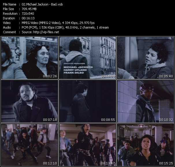 Michael Jackson video vob