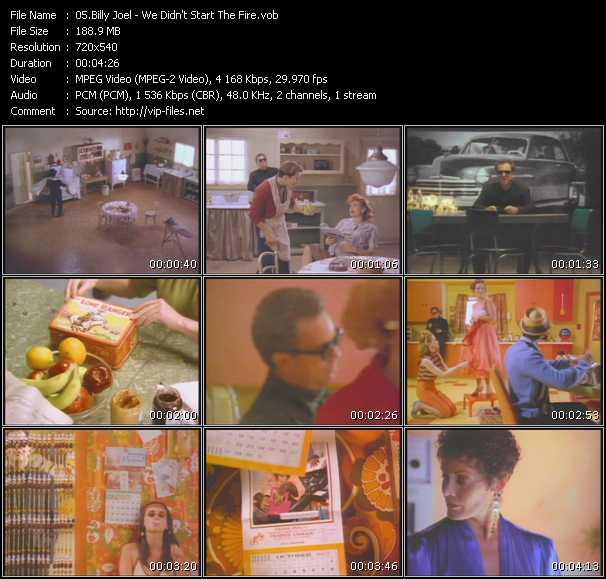 Billy Joel video vob