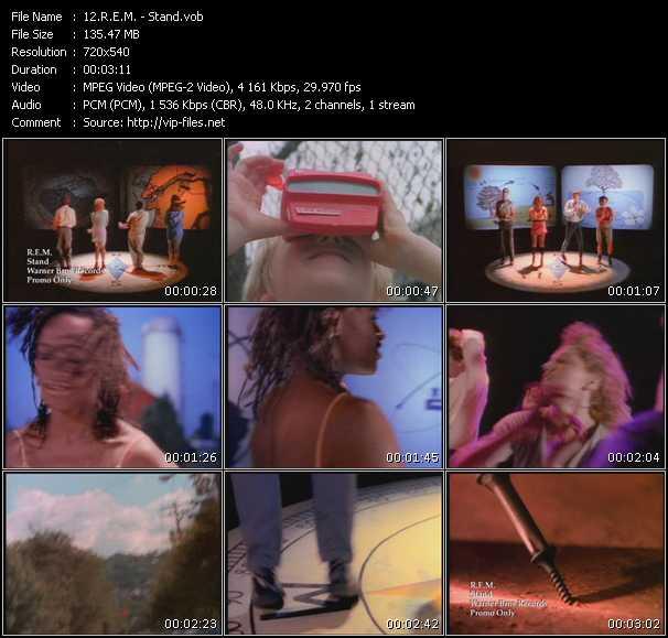 Screenshot of Music Video R.E.M. - Stand