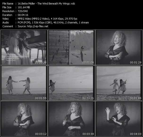 Bette Midler video vob