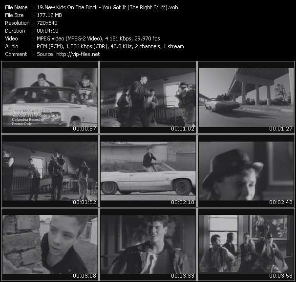New Kids On The Block video vob