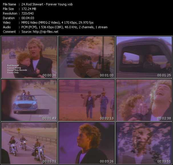 Screenshot of Music Video Rod Stewart - Forever Young