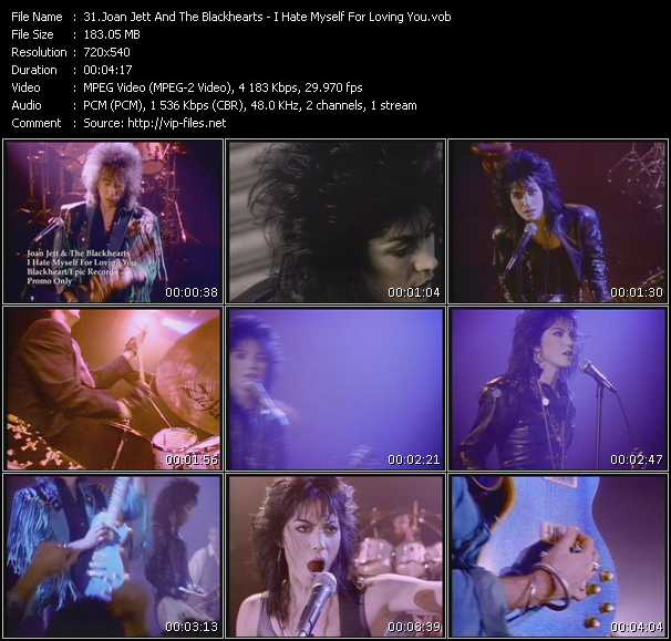 Screenshot of Music Video Joan Jett And The Blackhearts - I Hate Myself For Loving You