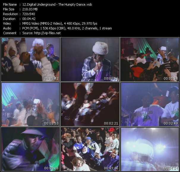 Screenshot of Music Video Digital Underground - The Humpty Dance