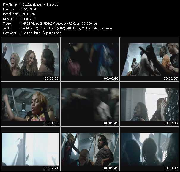 Screenshot of Music Video Sugababes - Girls