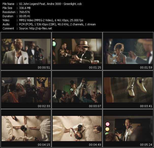 Screenshot of Music Video John Legend Feat. Andre 3000 - Greenlight