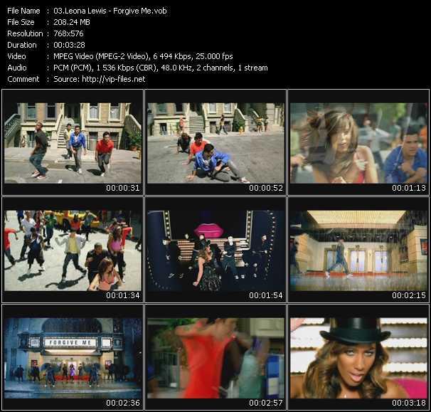 Screenshot of Music Video Leona Lewis - Forgive Me