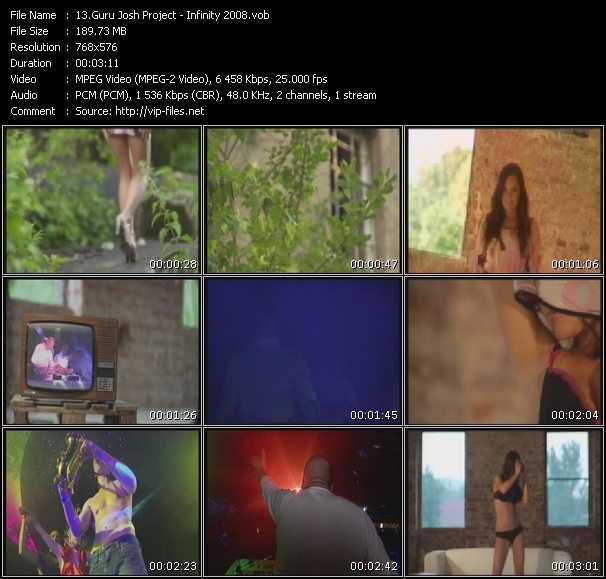 Screenshot of Music Video Guru Josh Project - Infinity 2008
