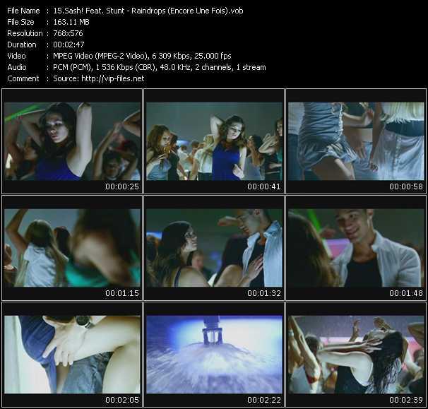 Screenshot of Music Video Sash! Feat. Stunt - Raindrops (Encore Une Fois)
