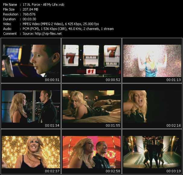Screenshot of Music Video N-Force - All My Life