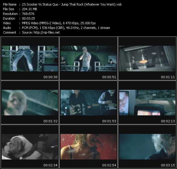 Screenshot of Music Video Scooter Vs. Status Quo - Jump That Rock (Whatever You Want)