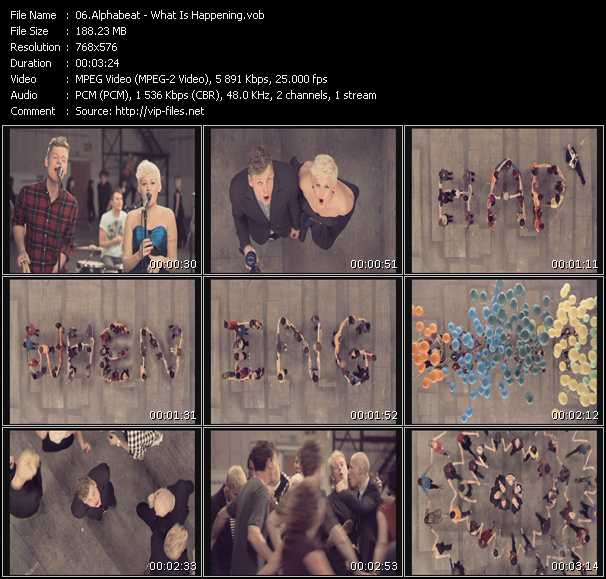 Screenshot of Music Video Alphabeat - What Is Happening