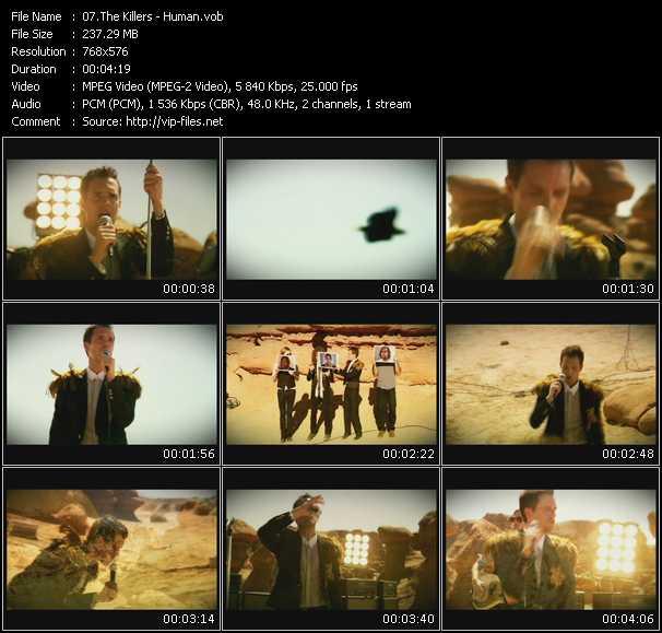 Screenshot of Music Video Killers - Human