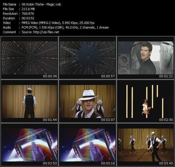 Screenshot of Music Video Robin Thicke - Magic