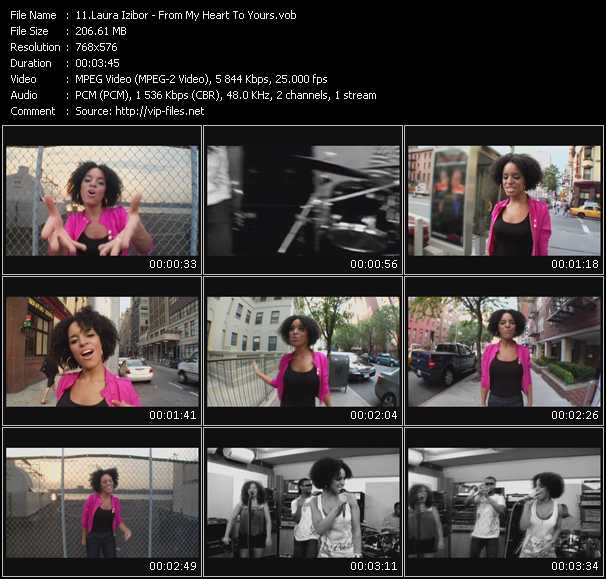 Screenshot of Music Video Laura Izibor - From My Heart To Yours