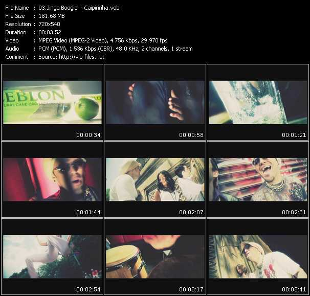 Screenshot of Music Video Jinga Boogie - Caipirinha