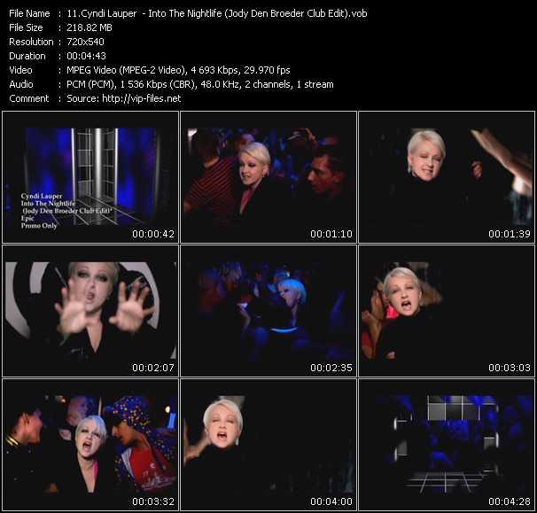 Screenshot of Music Video Cyndi Lauper - Into The Nightlife(Jody Den Broeder Club Edit)