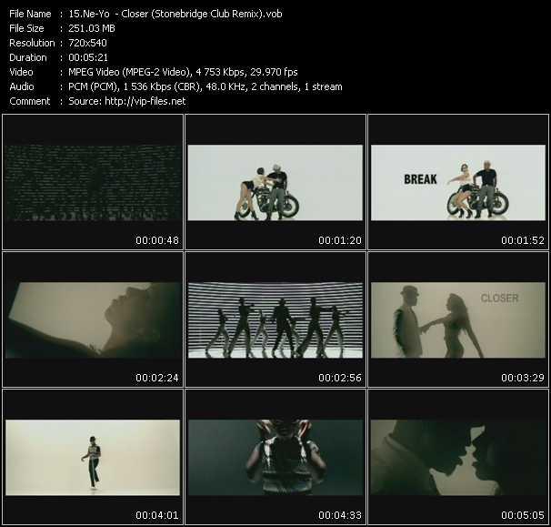 Screenshot of Music Video Ne-Yo - Closer(Stonebridge Club Remix)