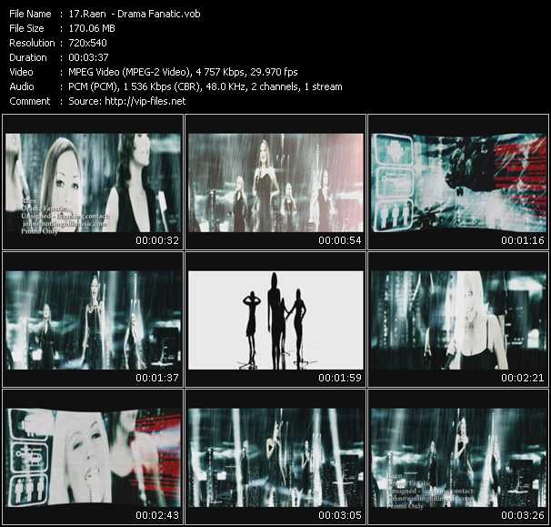 Screenshot of Music Video Raen - Drama Fanatic