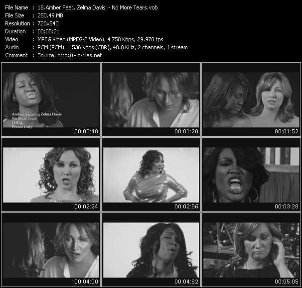 Screenshot of Music Video Amber Feat. Zelma Davis - No More Tears