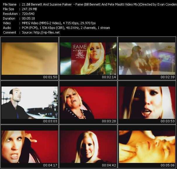 Screenshot of Music Video Bill Bennett And Suzanne Palmer - Fame (Bill Bennett And Pete Masitti Video Mix) Directed by Evan Cowden