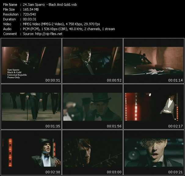 Screenshot of Music Video Sam Sparro - Black And Gold