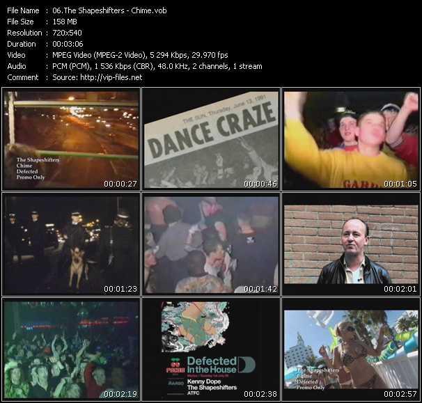 Screenshot of Music Video Shapeshifters (Shape: UK) - Chime