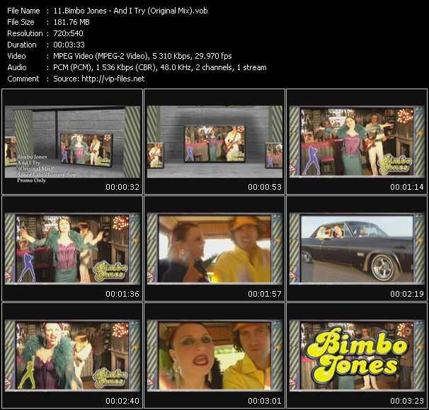 Screenshot of Music Video Bimbo Jones - And I Try (Original Mix)