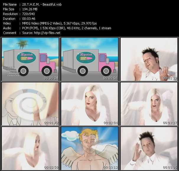 Screenshot of Music Video T.H.E.M. (Thee Human Ego Maniacs) - Beautiful