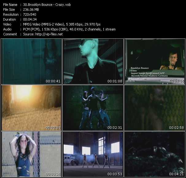 Screenshot of Music Video Brooklyn Bounce - Crazy